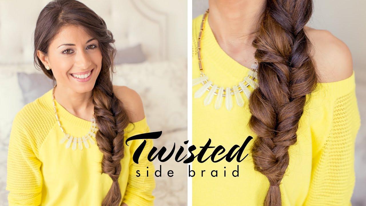 Twisted Side Braid Youtube