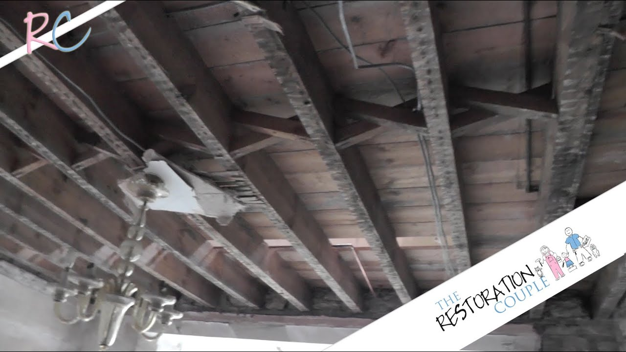 Removing An Old Lathe And Plaster Ceiling Youtube
