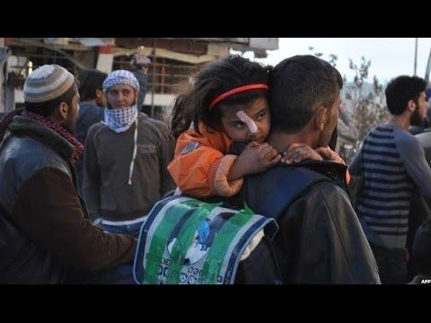 Syria conflict: UN restarts Homs evacuation mission - BBC News