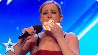 FIRST LOOK: Sensational opera singer STUFFS HER FACE WITH CAKE?!   BGT 2018