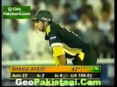 Shahid Afridi 27 Runs In 5 Balls video