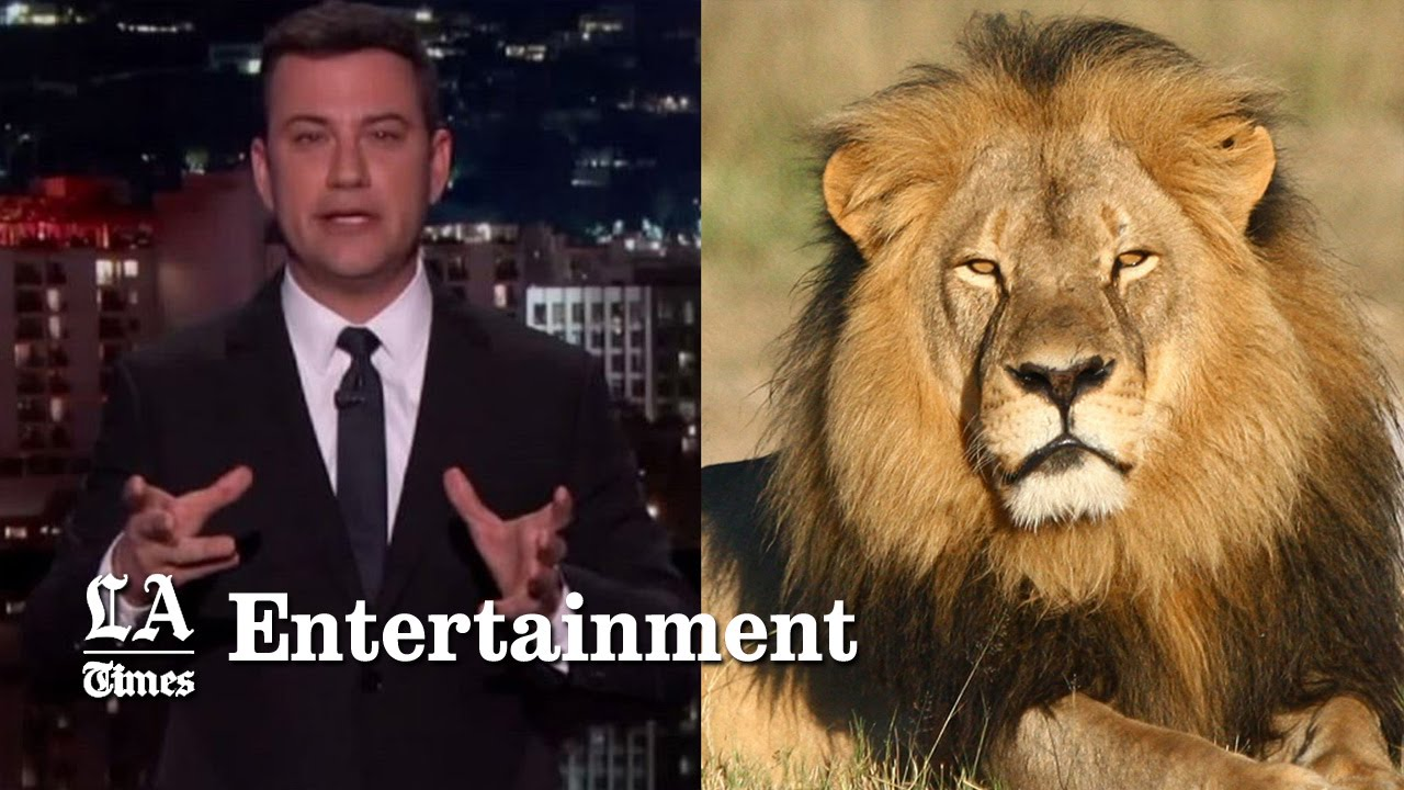 Jimmy Kimmel chokes up over Cecil the Lion's death