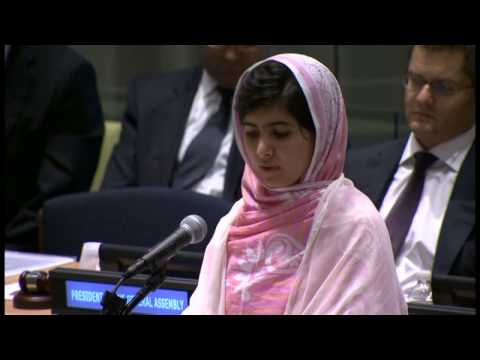 Malala Yousafzai makes education plea at UN
