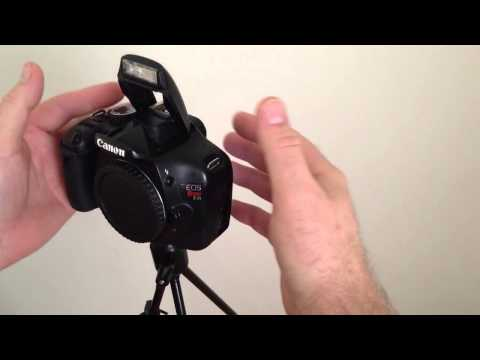 How To Open Canon Pop-Up Flash T1i T2i T3i 500D 550D 600D 650D DSLR Pop Up Flash Stuck