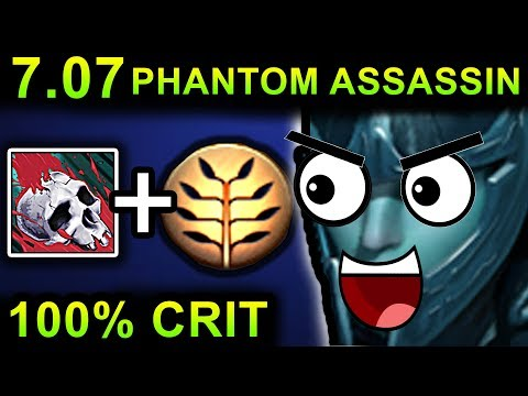 UNLIMITED CRIT PHANTOM ASSASSIN - DOTA 2 PATCH 7.07 NEW META PRO GAMEPLAY