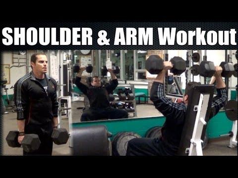 Bodybuilding Shoulder & Arm Workout Video video