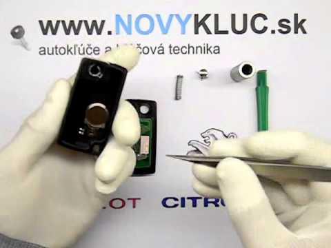 Demontáž Peugeot. Citroen vyskakovací auto kľúč  . How to disassembly car key fob 2.3 button .