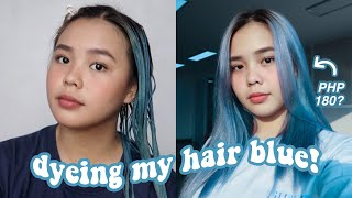 DYEING MY HAIR BLUE! (180 PESOS LANG?) | darlene