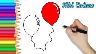 How to Color Party Balloons Part 2 | Teach Drawing for Kids and Toddlers Coloring Page Video