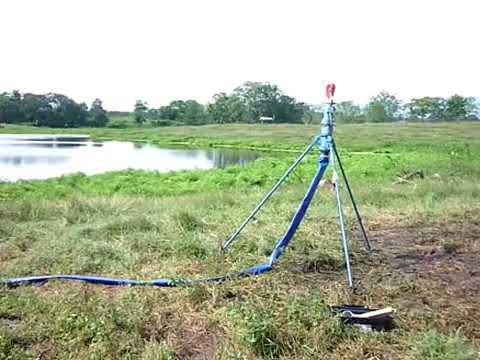 Ca on para riego agricola por impacto youtube for Aspersor de jardin
