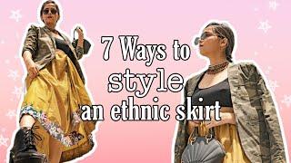7 WAYS TO STYLE ETHNIC SKIRT Iएथनिक स्कर्ट कैसे स्टाइल करें I Thatlibranstyleblog