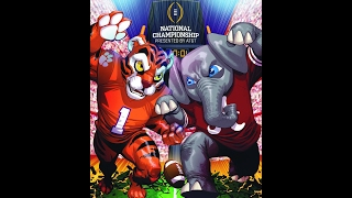 2016 National Championship Clemson vs  Alabama with Clemson Radio Call