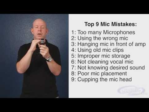 9 самых распростарнённых ошибок при работе с микрофонами