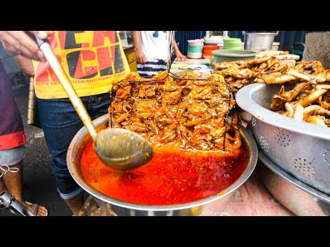 Street Food in Lombok - BEST GRILLED CHICKEN in the WORLD!!  Mataram, Indonesia!