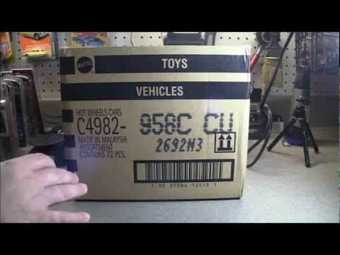2013 HOT WHEELS International Sealed C Case Unboxing with Camaro Treasure Hunt!