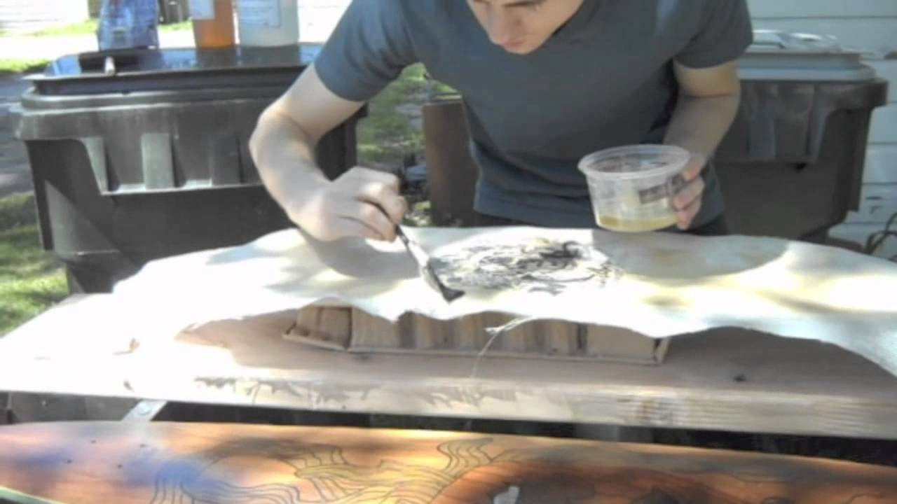 How to Do Rice Paper Under Fiberglass Graphic