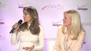 Alberto Sardiñas interviews Jennifer Lopez and Marni Walden about the launch of Viva Movil