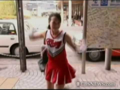 Cheerleader Peps Commuters Video