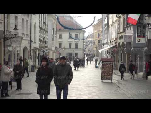 Tourists walking in old town at day time
