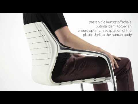 Brunner ray - the slender cantilever chair