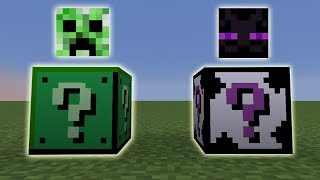 DE CREEPER EN ENDERMAN LUCKY BLOCKS!