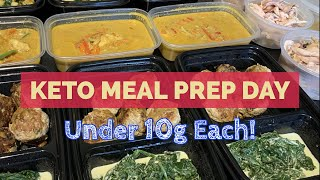 4 Keto Freezer Meals Under 10g // Meal Prep Day! - Meatballs, Cod Curry & Pulled Chicken