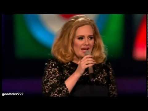 Adele speech interrupted James Corden BRITs