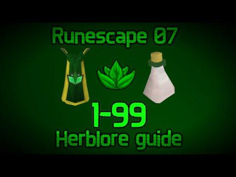 Runescape 2007 – 1-99 Herblore Guide