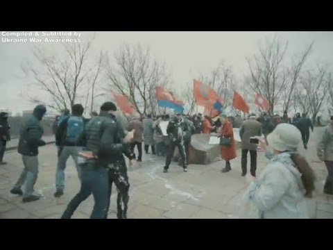 Another Peaceful Protest Attacked in Ukraine, Kiev, March 17, 2016