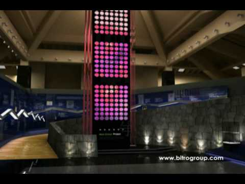 BITRO GROUP Digital Signage- Multi screen.  Peace Tower Hotel, Korea