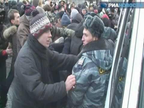 Избиение кавказцев на митинге в Москве 11 декабря 2010 г.