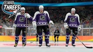 NHL 18 THREES GAMEPLAY *NEW GAME MODE*