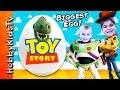Giant TOY STORY Surprise Eggs with HobbyKidsTV