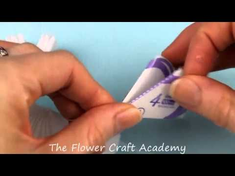 Flower Frill Christmas Table Glass Decoration Tutorial