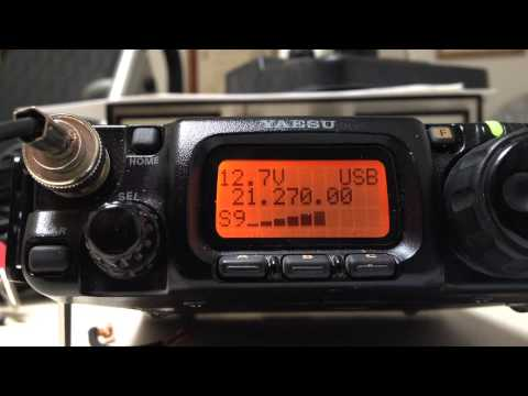 FT-817 5W QRP + vertical antenna QSO with UY3LA