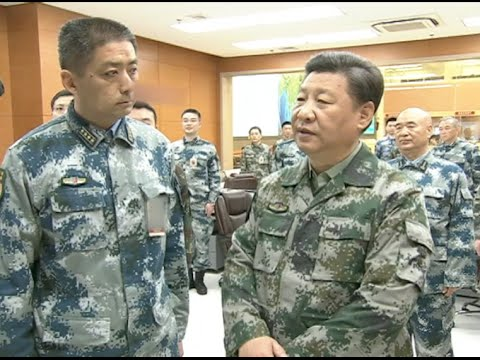 Xi Jinping Inspects Joint Battle Command Center