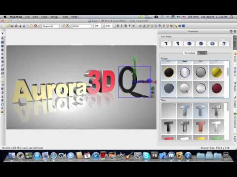 Make 3D Text & Logo on Mac - Aurora 3D Maker / Animation