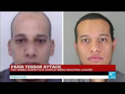 #BREAKING - Two armed suspects in #CharlieHebdo attack 'located' in Northern France (police sources)