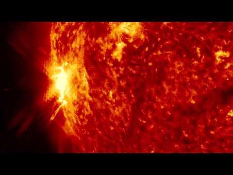 Sun Releases Strong X-class Solar Flare | NASA SDO Space Science HD