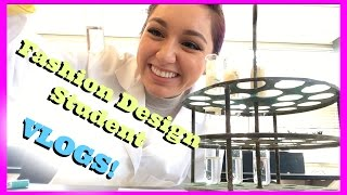 Life as a Fashion Design Student! Vlogs | CraftyAmy