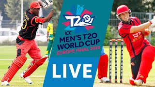 LIVE CRICKET - ICC Men's T20 World Cup Europe Final 2019 - Germany vs Jersey. Match starts 15.45 BST