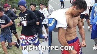 PACQUIAO PUSHING IT TO THE LIMIT FOR KEITH THURMAN; TRAINING LIKE A MAN HALF HIS AGE