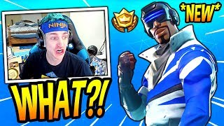 "NINJA REACTS TO *NEW* ""BLUE STRIKER"" SKIN! *EPIC* Fortnite SAVAGE & FUNNY Moments"