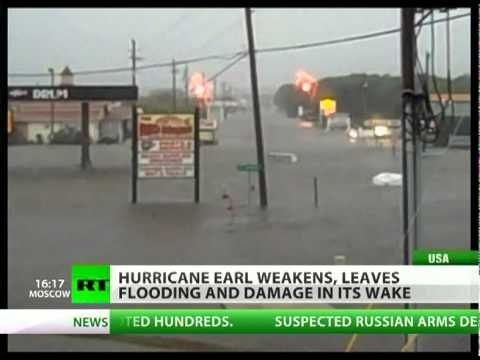 Hurricane Earl 'blows out' and into a tropical storm