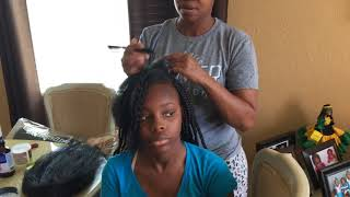 Box Braids tutorial brick method