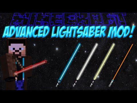 Световые мечи в Minecraft!Обзор мода Minecraft #69 Advanced Lightsabers