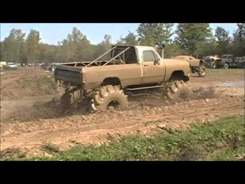 Barnyard Boggers 4x4 Mega Mud Trucks at Spencer Speedway