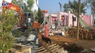చెరువు సుందరీకరణ కోసం ఇళ్ల తొలగింపు..! | Krishna district
