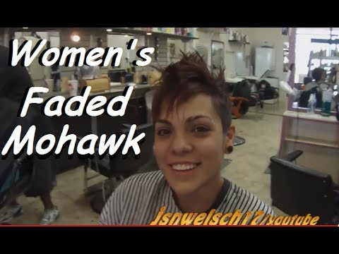 ... womens tapered mohawk / womens hairstyles / womens clipper haircut