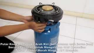 blue gaz - Cara Menggunakan Kompor New Kompre Deluxe